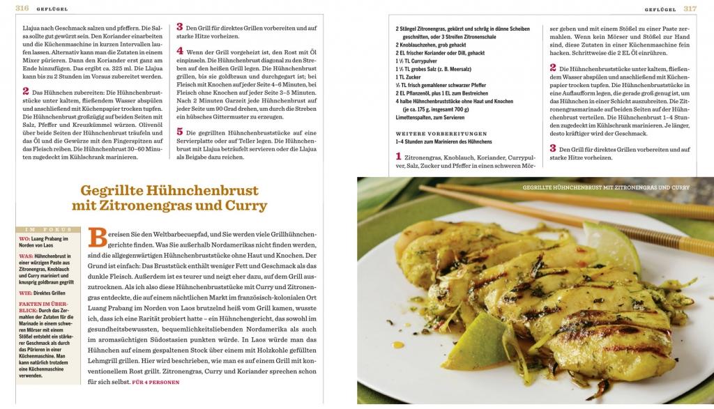 Rezept: Gegrillte Hühnchenbrust mit Zitronengras und Curry