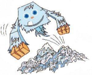 icy-huggy-schneemonster-papiermonster