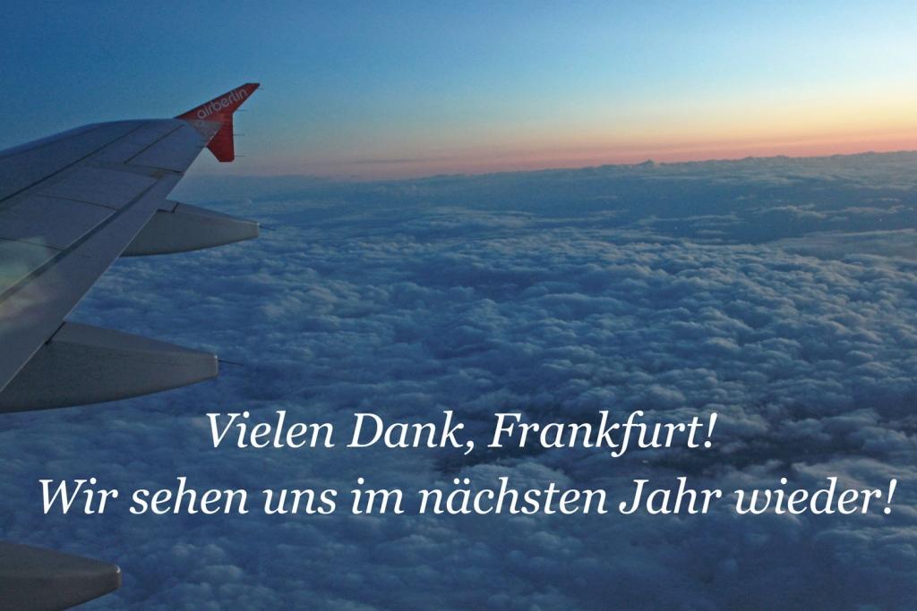 Rückflug - Buchmesse Frankfurt