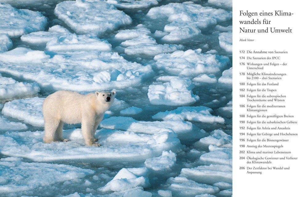 Buchinnenseite 3: Folgen eines Klimawandels für Natur und Umwelt