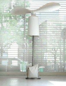 Durch Windkraft angetriebene Lampe