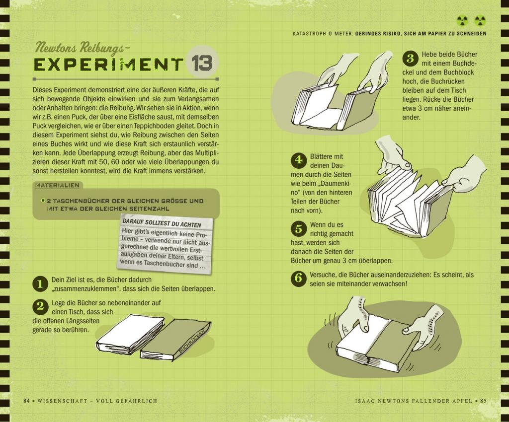 Reibungsexperiment - Wissenschaft voll gefährlich