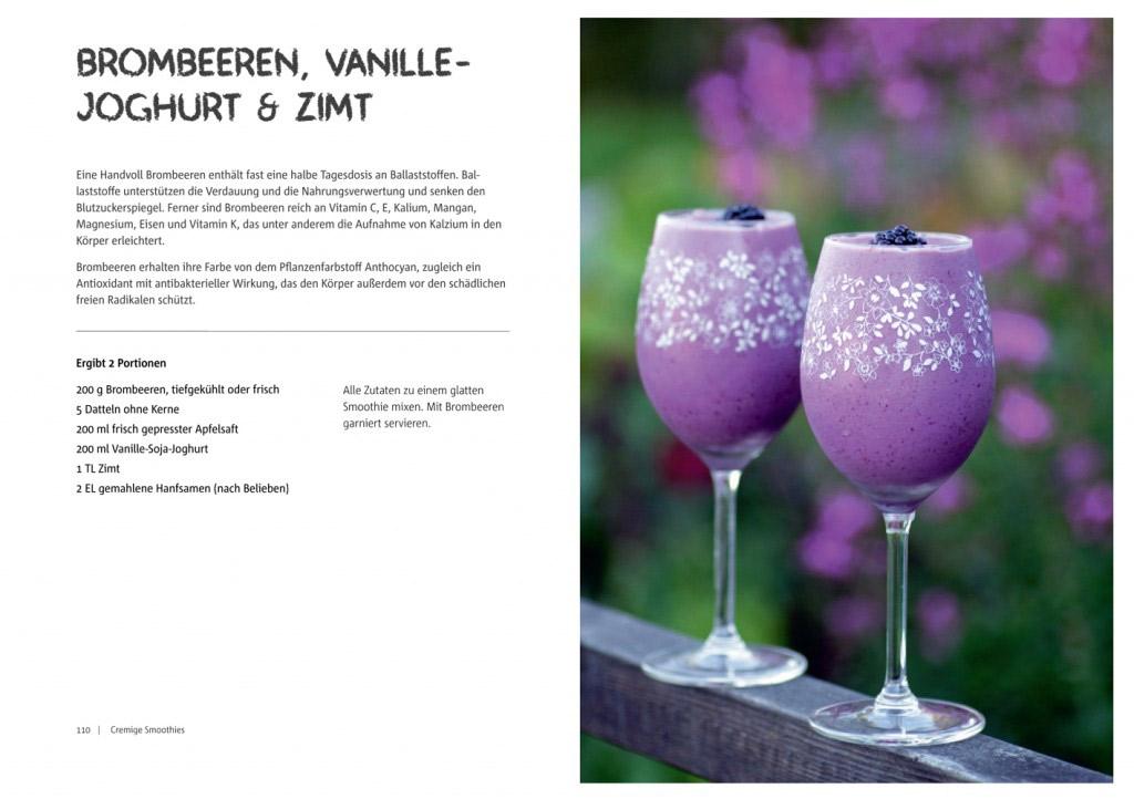 Rezept aus Vegane Smoothies: Smoothie mit Brombeere, Vanille, Joghurt und Zimt