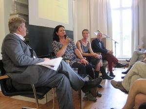 Gespräch mit Barbara Rohm, Francisca Drechsler und unserem Verleger Herbert Ullmann.