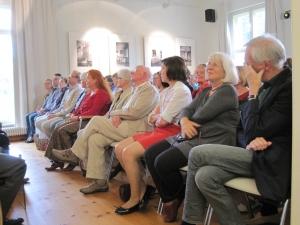 """Die porträtierten """"Menschen aus Sanssouci"""" zu Gast in der Villa Quandt."""