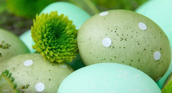 Bunte Ostereier – gefärbt mit pflanzlichen Farben.