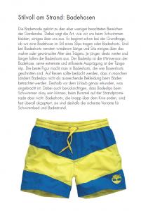 Stilvoll in der Freizeit: Badehosen (Auszug aus der Gentleman Agenda 2016)