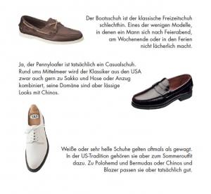Casualschuhe für den Sommer (Auszug aus der Gentleman Agenda 2016) - - Modetipps von Bernhard Roetzel