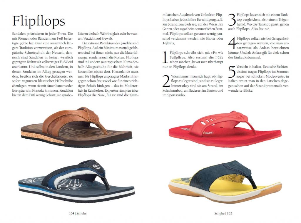 Flipflops - Auszug aus dem Mode Guide für Männer