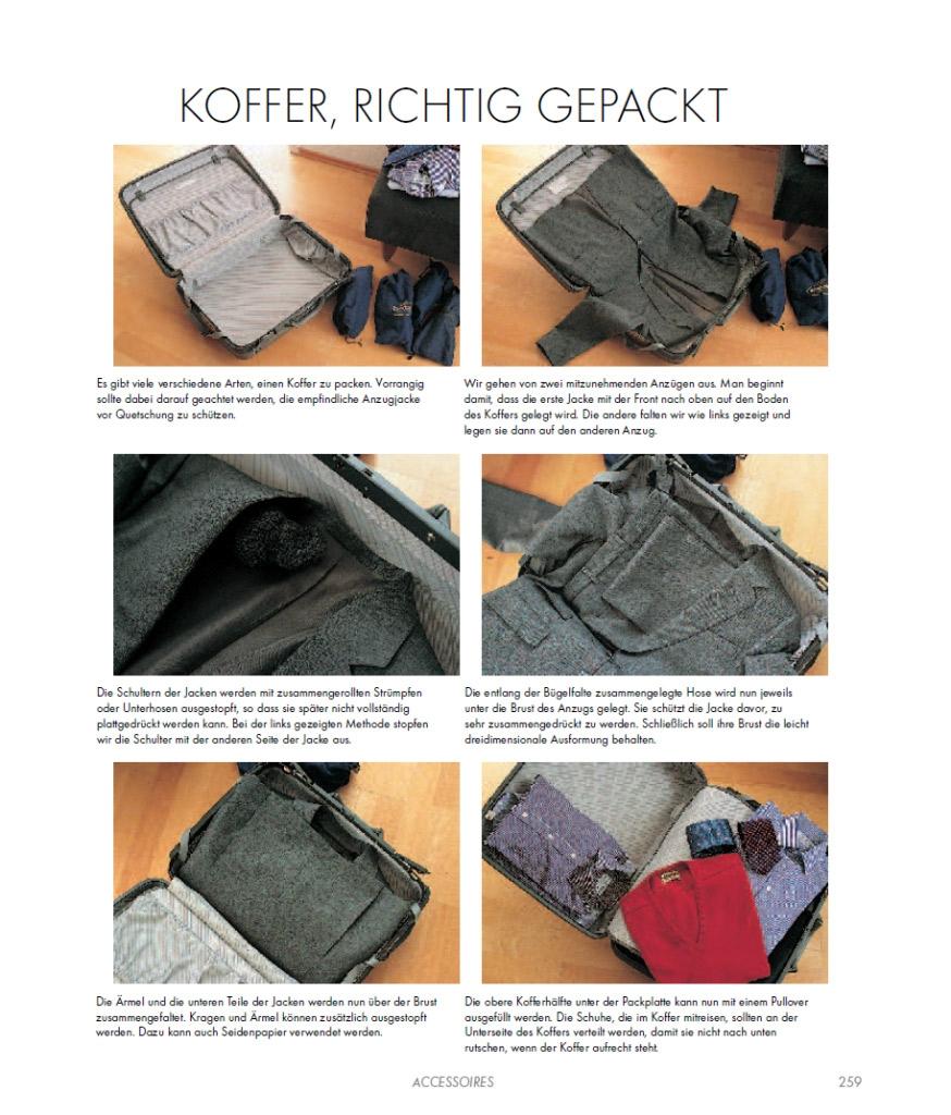 Koffer richtig gepackt - aus dem Ratgeber Der Gentleman