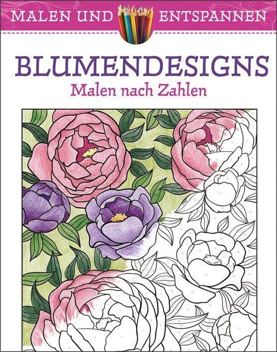 malen und entspannen blumendesigns buch online kaufen ullmann medien. Black Bedroom Furniture Sets. Home Design Ideas