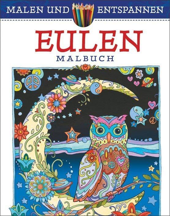 Malen Und Entspannen Eulen Buch Online Kaufen Ullmann Medien