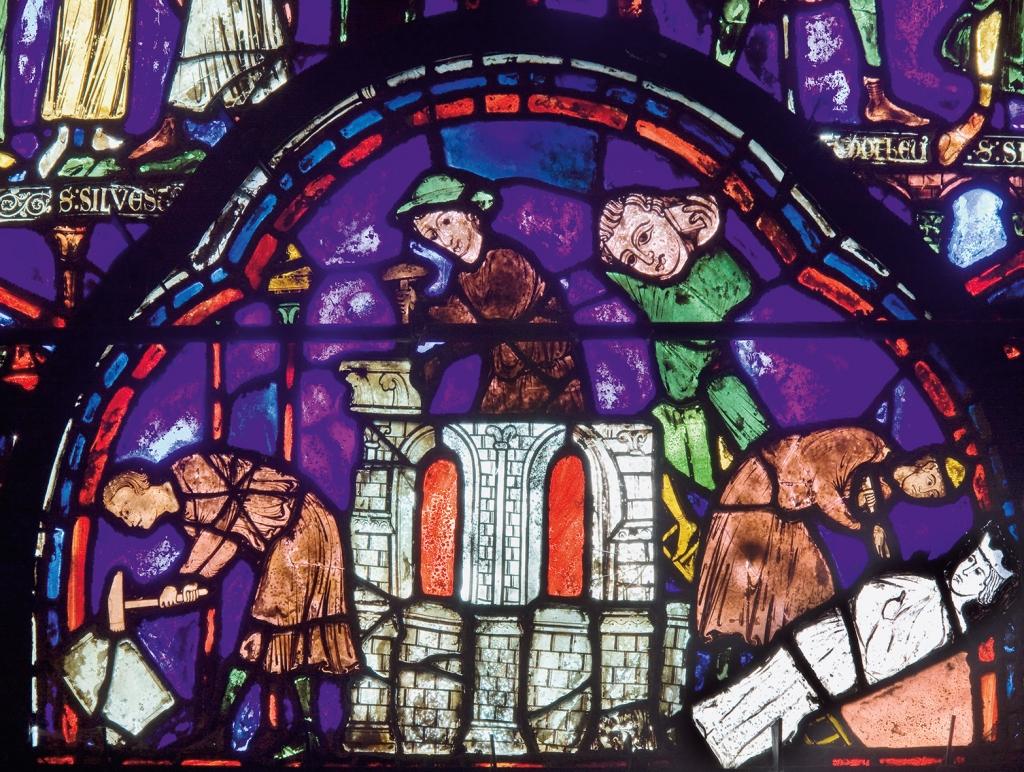 Glasfensterdetail in der Kathedrale von Chartre, Foto: © Joachim Bednorz