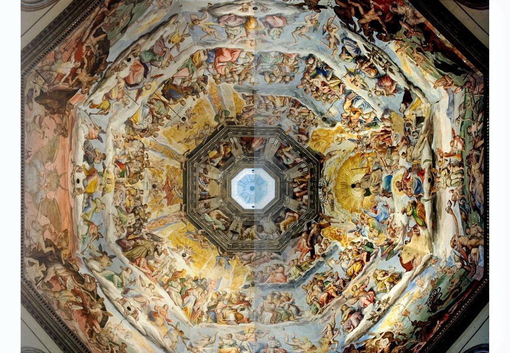Deckenfresko der Kuppel (Giorgio Vasari / Federico Zuccari)