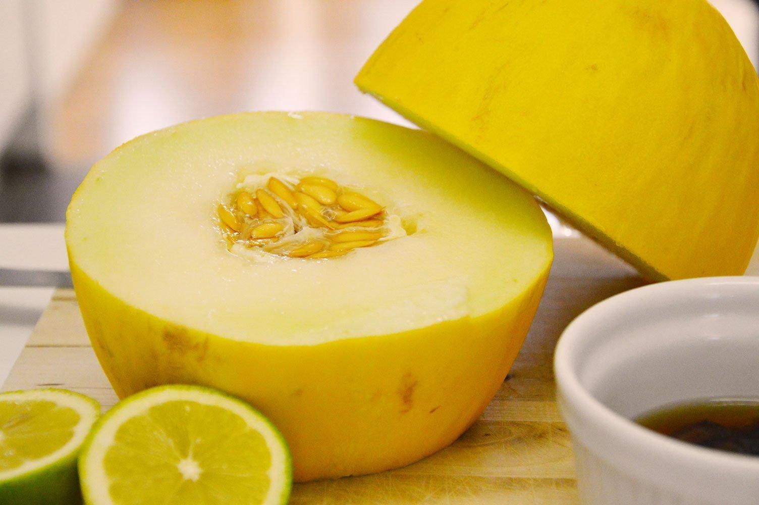 Frische Melone gibt dem Smoothie einen tollen Geschmack