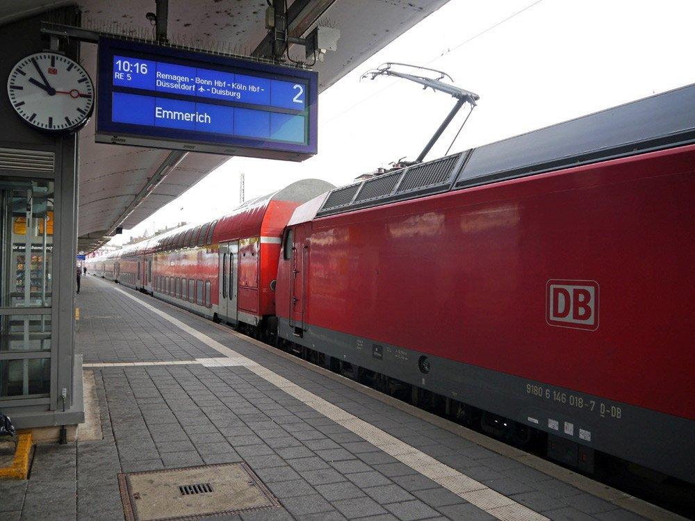 Mit dem Zug durchs Rheinland