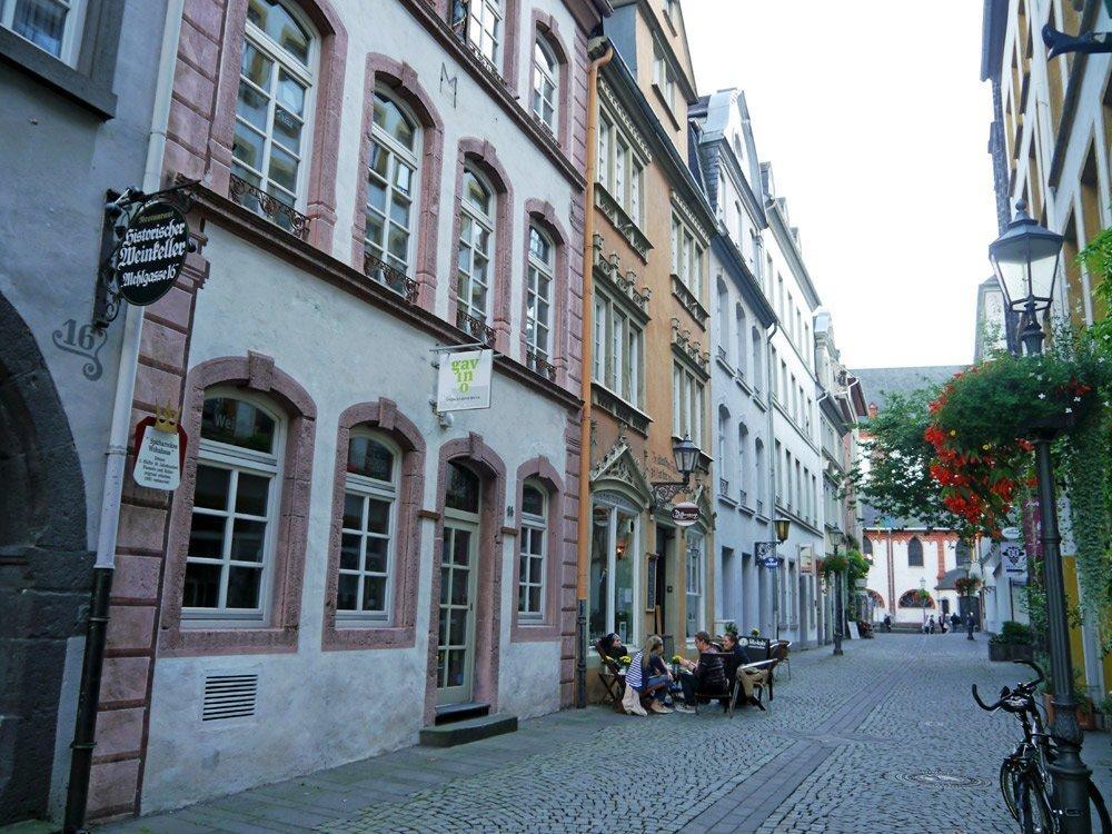 Gemütliche Gassen in der Altstadt von Koblenz