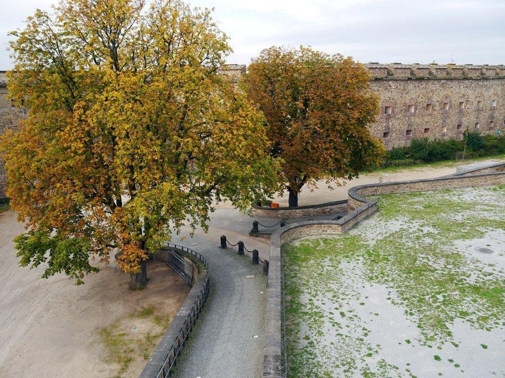 Auf der Festung Ehrenbreitstein, einer der beliebtesten Sehenswürdigkeiten in Koblenz