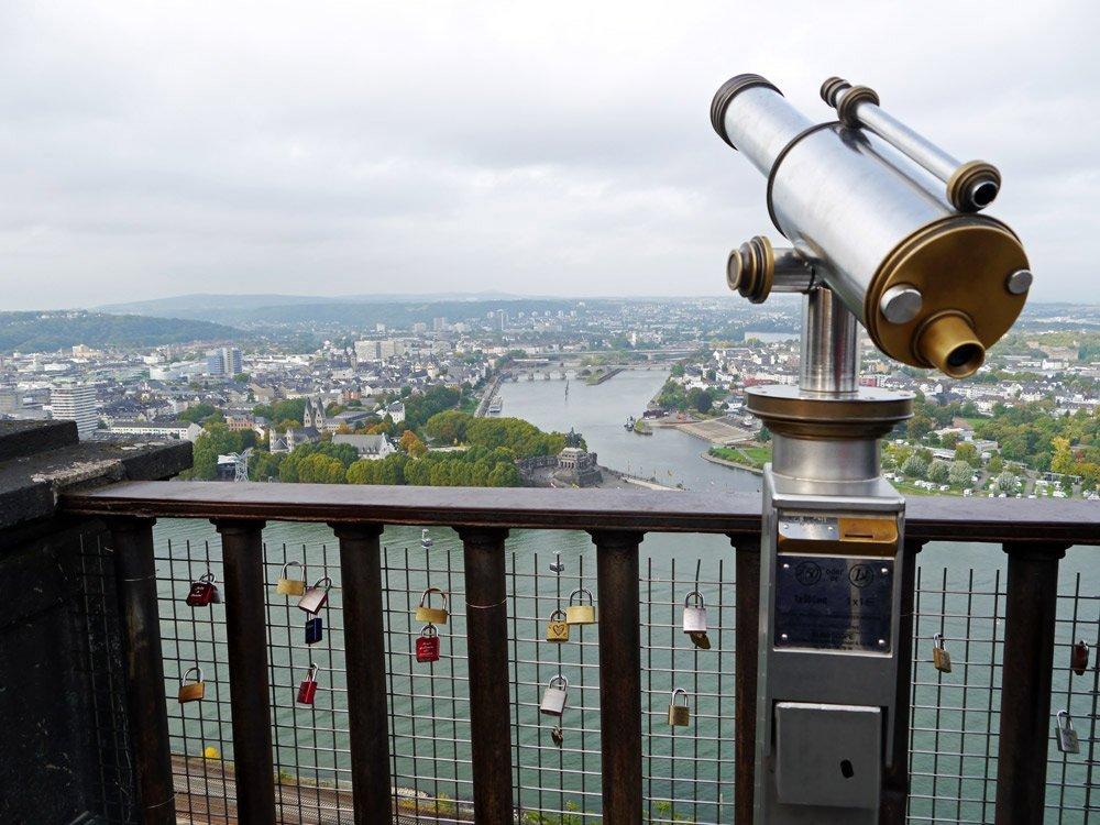 Ausblick von der Festung Ehrenbreitstein