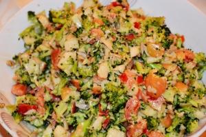 Viele Rezepte wurden an diesem Abend vorgestellt, u.a. Brokkolisalat