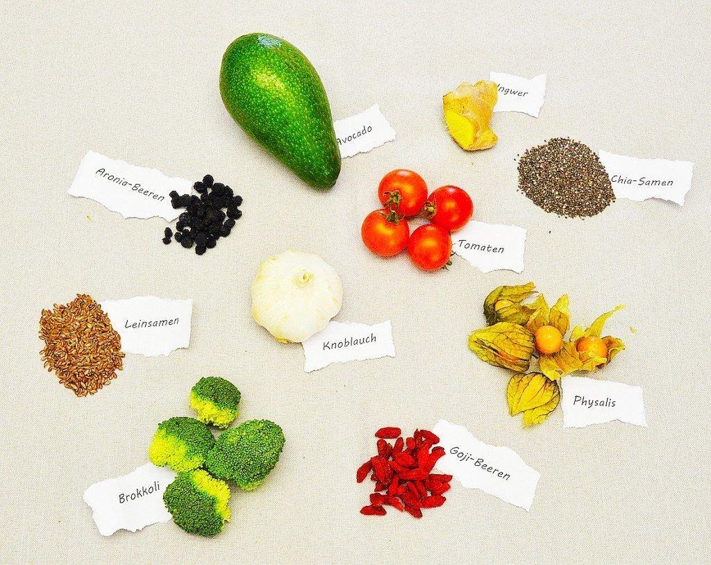 Gesunde Superfoods auf einen Blick