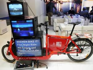 Film-Fahrrad am Bremen-Stand