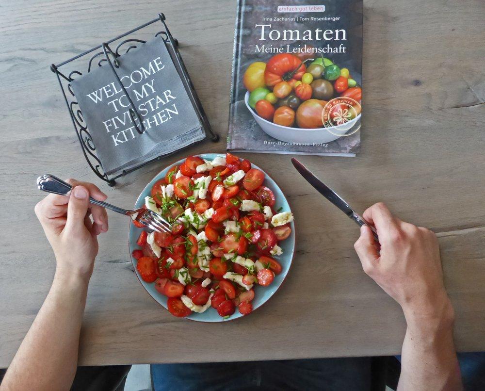 Orientalischer Tomatensalat mit Erdbeeren - lecker!