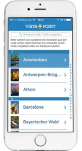 Reise App VISTA POINT Reiseziele