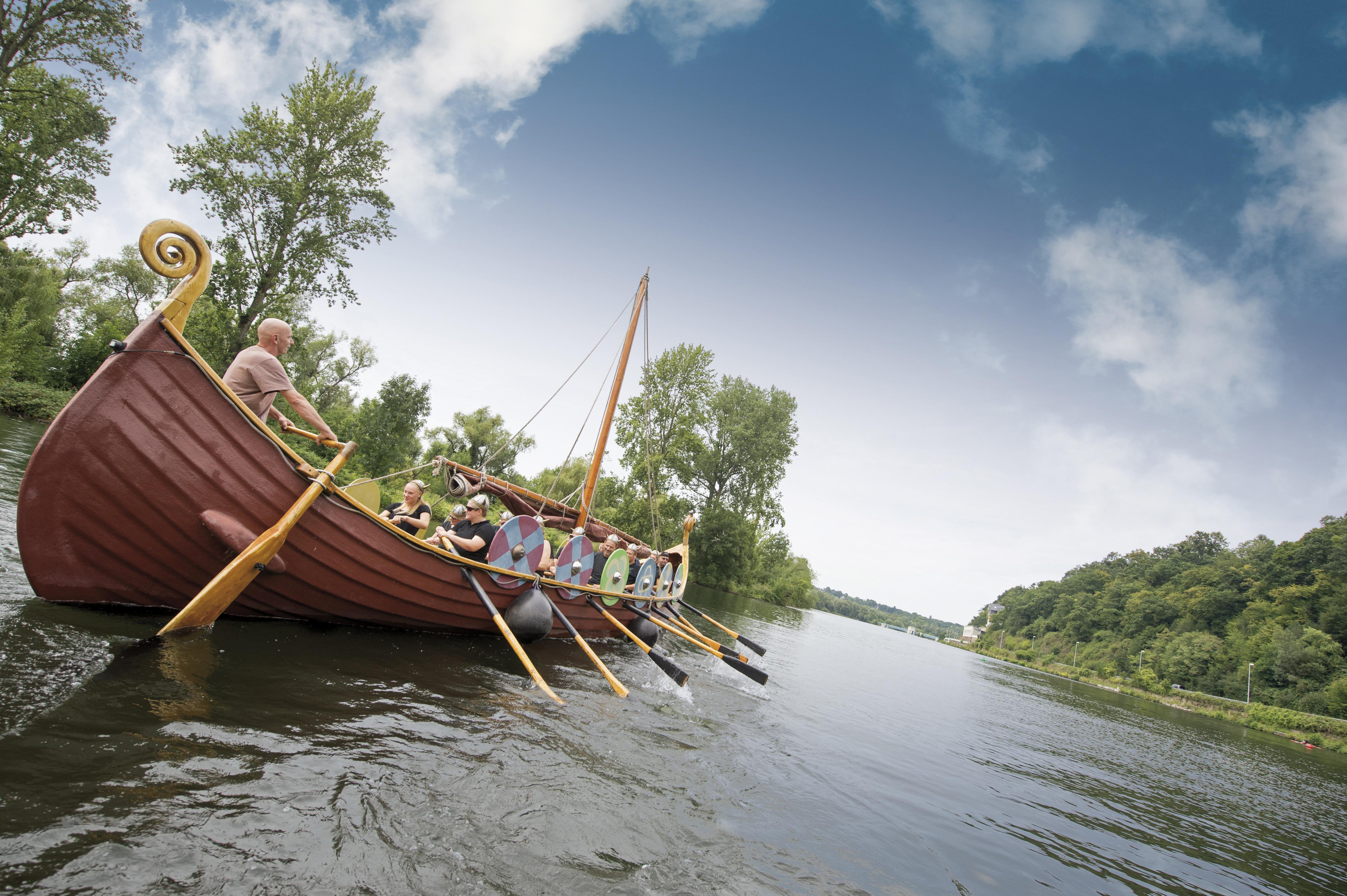 MüWi heißt das Wikingerschiff, mit dem die Ruhr rund um Mülheim erobert werden kann, © Andreas Köhring / MST GmbH