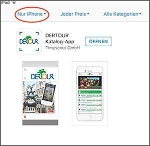DERTOUR App iPhone und iPad
