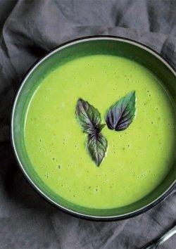 Erbsensuppe mit grünem Curry