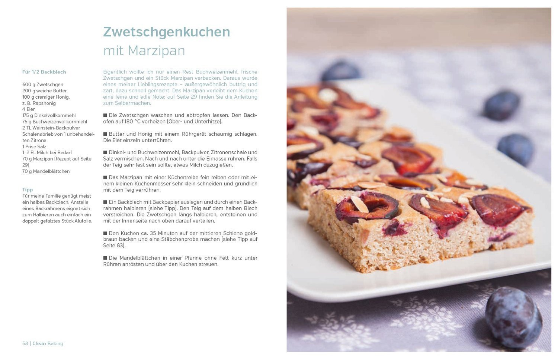 Rezept: Pflaumenkuchen mit Marzipan aus Clean Baking