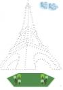 Punkt-zu-Punkt Paris - Malbuch