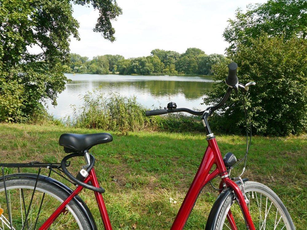 Fahrradtour am Kiessee in Göttingen