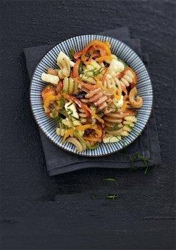 Dondolini-Salat mit gegrillter Paprika und Feta