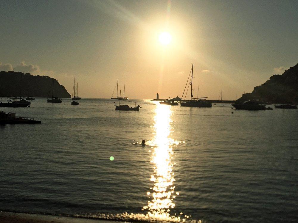 Sonnenuntergang in Port d'Andratx, Mallorca