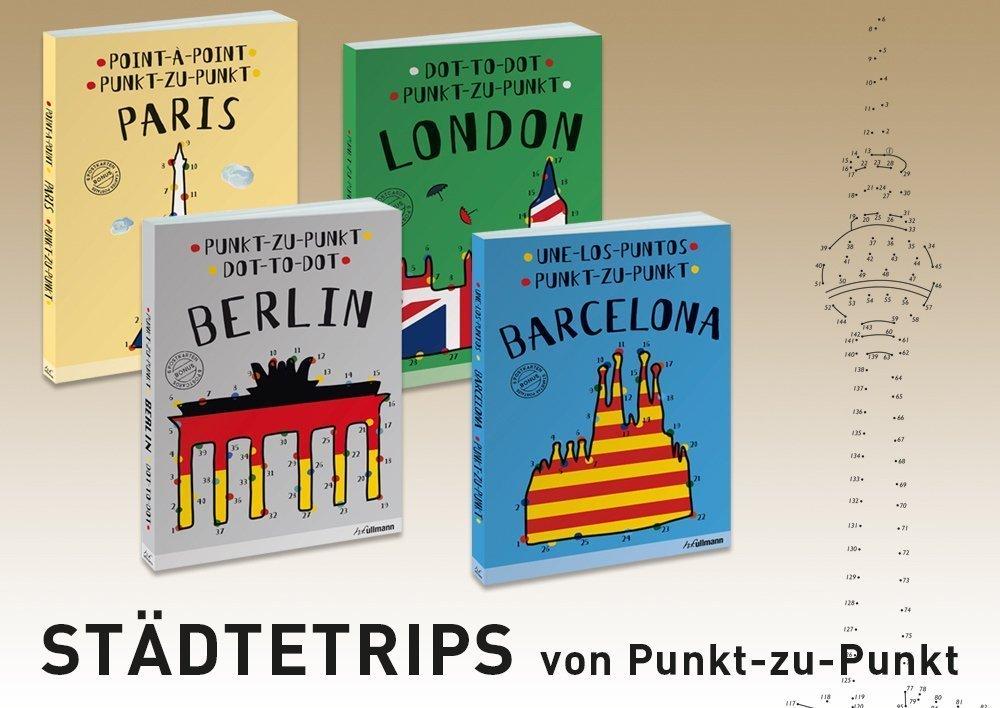 Punkt-zu-Punkt Malbücher Städtetrips