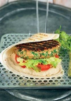 Vegane Burger auf libanesische Art