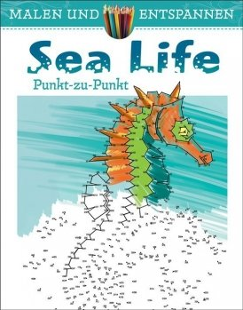 Malen und entspannen: Punkt-zu-Punkt Sea Life