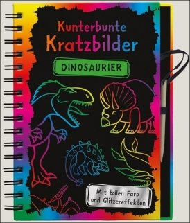 Kunterbunte Kratzbilder: Dinosaurier
