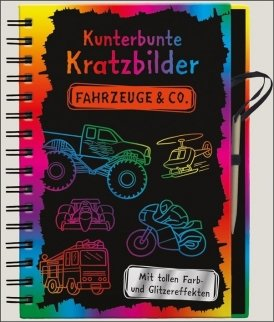 Kunterbunte Kratzbilder: Fahrzeuge & Co.