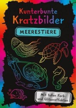 Kunterbunte Kratzbilder: Meerestiere