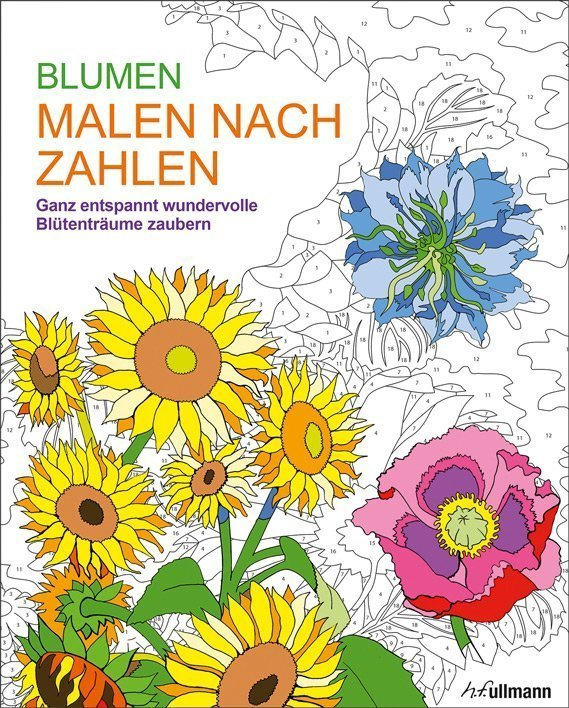 Malen Nach Zahlen Blumen Buch Online Kaufen Ullmann Medien