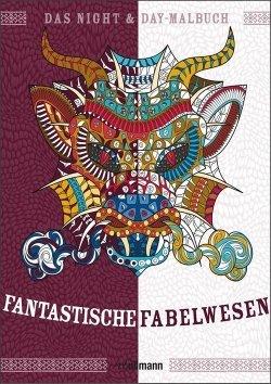 Night & Day Malbuch: Fantastische Fabelwesen