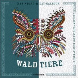 Night & Day Malbuch: Waldtiere