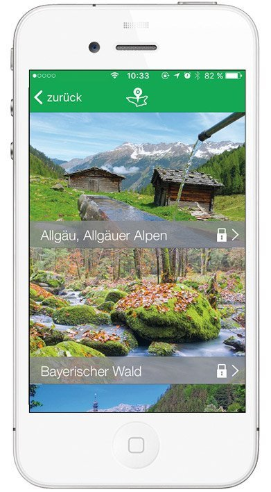Kompass App - verfügbare Touren