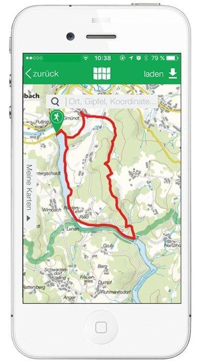 Kompass App - Verlauf der Tour