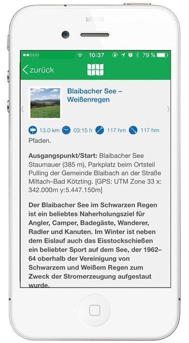 Kompass App - Tour-Beschreibung