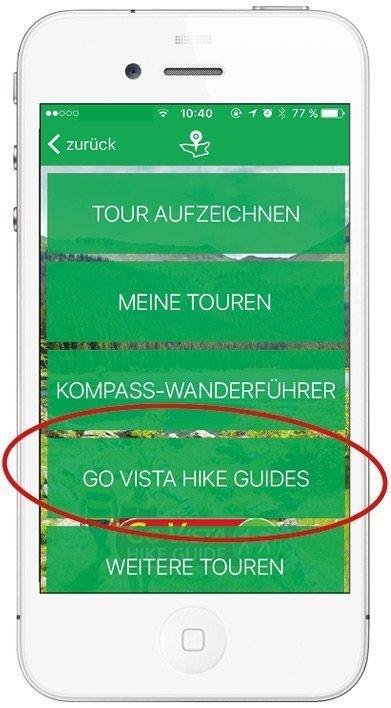 Kompass App - Tour Liste