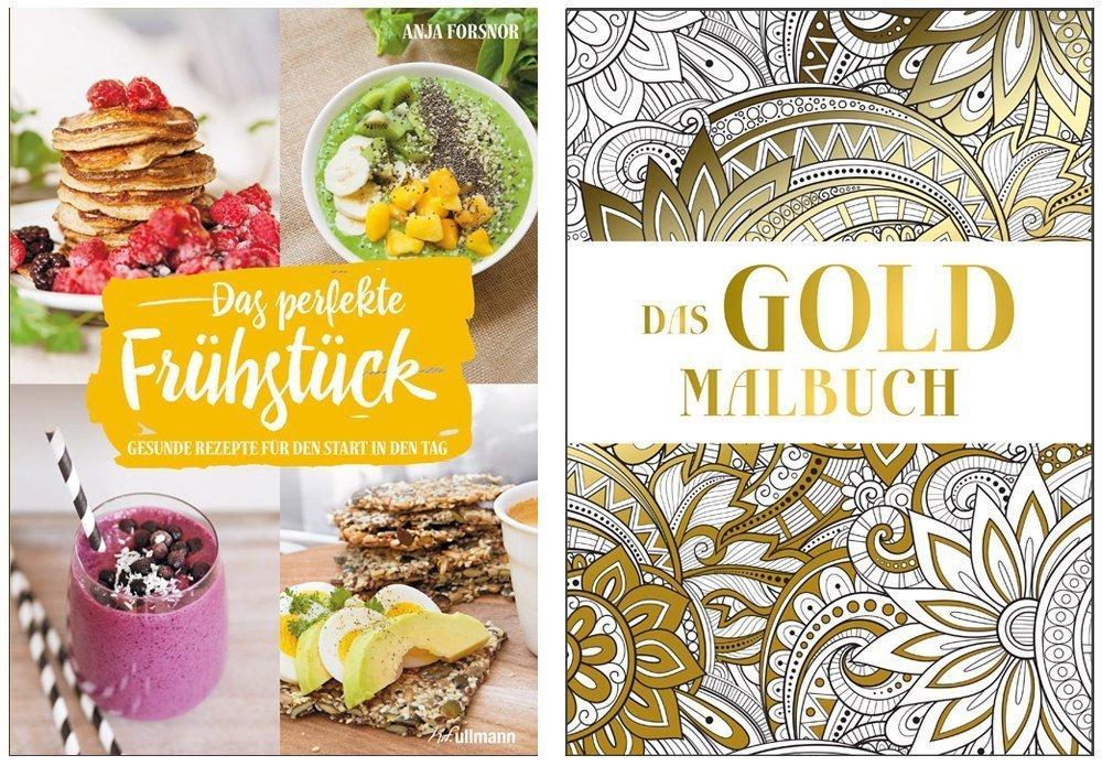 Buchpaket 2: Das perfekte Frühstück + Das Gold Malbuch
